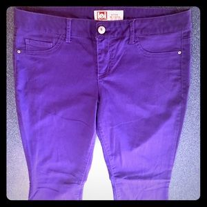 Royal Purple Comfy Skinny lei Jeans